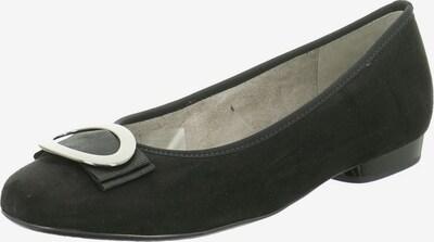Jenny Ballerinas in schwarz / silber, Produktansicht