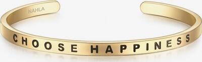 Nahla Jewels Armreif Bangle mit Schriftzug CHOOSE HAPPINESS in gold / schwarz, Produktansicht