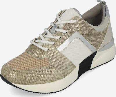 Edel Fashion Sneaker in beige / schwarz / silber / weiß, Produktansicht