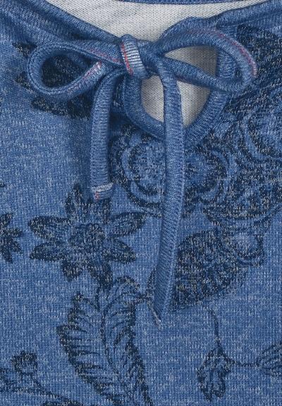CECIL Melange-Shirt mit Blumen in blau, Produktansicht