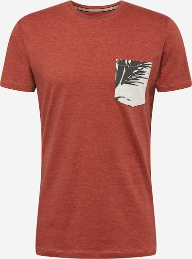 ESPRIT Majica 'MLA-030EE2K305' | modra / pegasto siva / oranžno rdeča / črna barva: Frontalni pogled