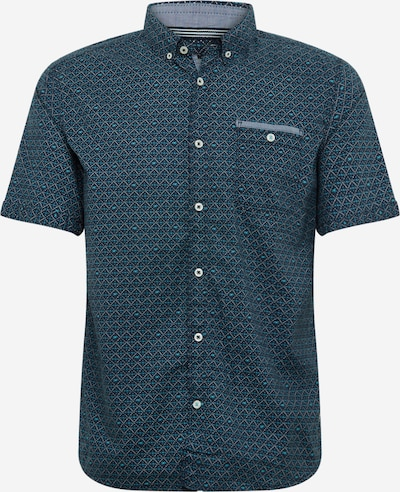 TOM TAILOR Overhemd in de kleur Navy / Turquoise / Wit, Productweergave