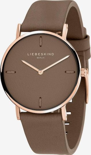 Liebeskind Berlin Montre à affichage analogique 'LT-0203-LQ' en marron / or rose, Vue avec produit