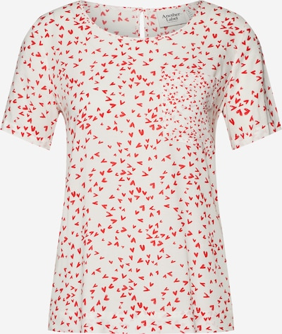Another Label T-shirt 'Ditch' en rouge / blanc, Vue avec produit