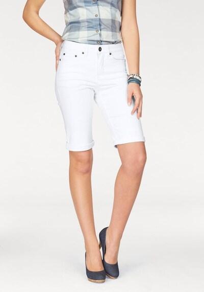 ARIZONA Jeansbermudas in weiß, Modelansicht