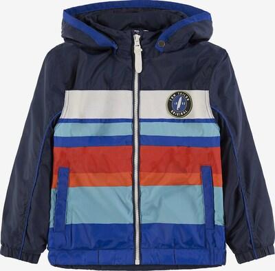 TOM TAILOR Übergangsjacke in blau / navy / opal / rot / weiß, Produktansicht