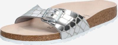 BIRKENSTOCK Muiltjes 'Madrid Gator Gleam' in de kleur Zilver, Productweergave