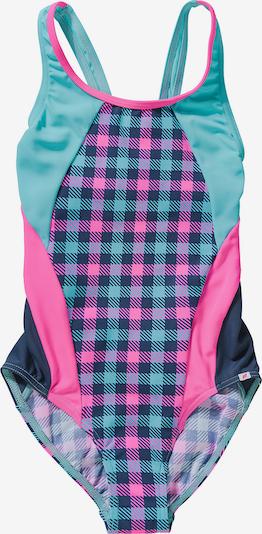 OLYMPIA Badeanzug in türkis / dunkelblau / pink, Produktansicht