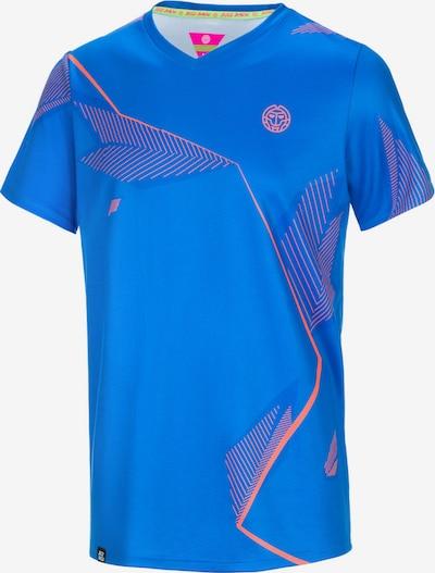 BIDI BADU T-Shirt 'Luc Tech' in blau / koralle, Produktansicht
