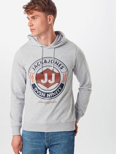 JACK & JONES Mikina 'JCOLINK' - sivá: Pohľad spredu