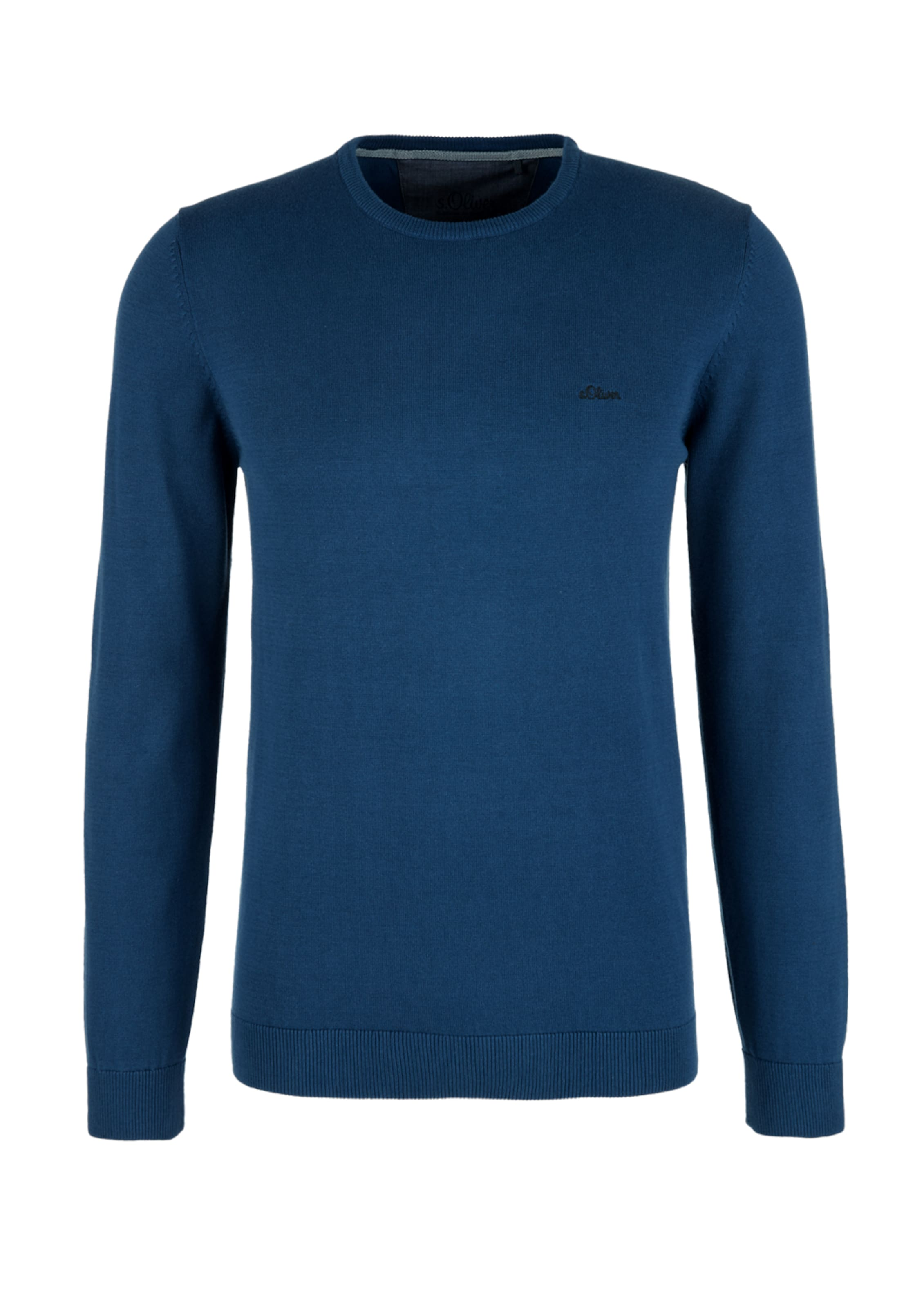 oliver Red Pullover Mit Neck S Label Blau Crew In 1JFcKl