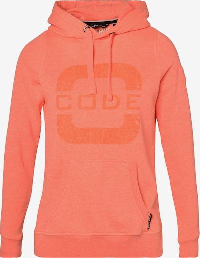 CODE-ZERO Sweatshirt mit Kapuze 'Transire' in orange, Produktansicht