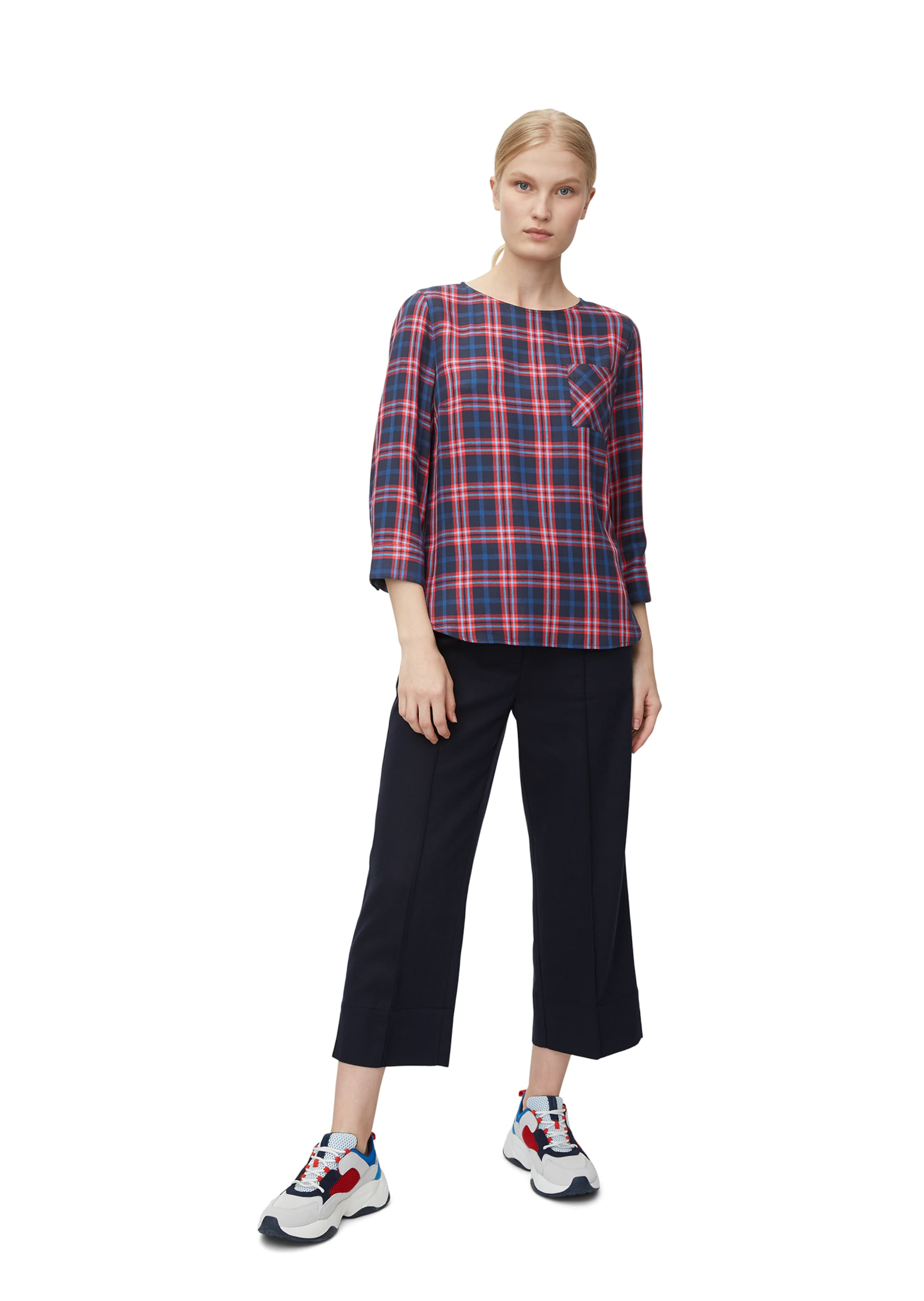 O'polo Feminine Bluse BlauRot Marc In UMSqzVpG