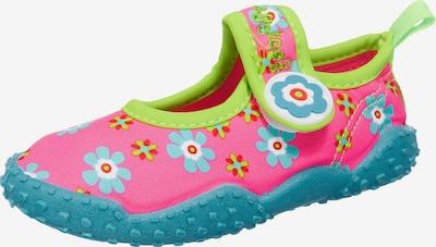 PLAYSHOES Aquaschuhe in aqua / mischfarben / pink, Produktansicht