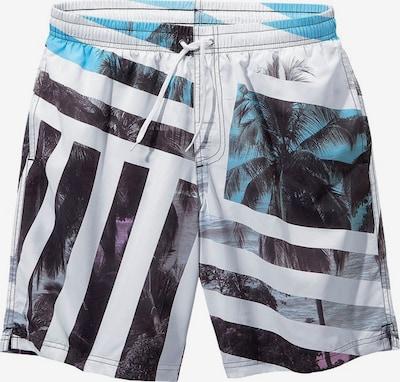 BUFFALO Badeshorts in blau / schwarz / weiß, Produktansicht