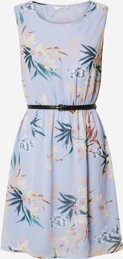 ONLY Robe 'ONLJENNY S/L BELT DRESS WVN' en bleu, Vue avec produit