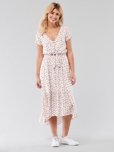 HOLLISTER Kleid 'T1245 PRETTY MIDI DRESS 2CC' in weiß, Modelansicht