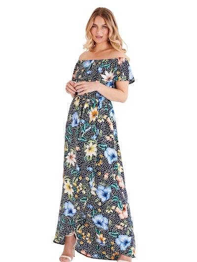 Mela London Kleid in nachtblau, Modelansicht