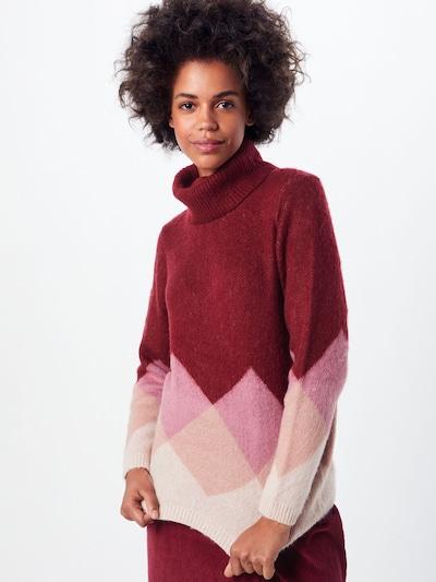 Megztinis 'DAIMI' iš ONLY , spalva - smėlio / rožių spalva / vyno raudona spalva: Vaizdas iš priekio