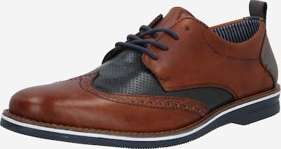 Pantofi cu șireturi RIEKER pe navy / maro închis, Vizualizare produs