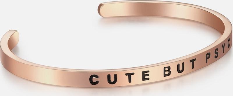 Nahla Jewels Armband Bangle mit CUTE BUT PSYCHO-Schriftzug