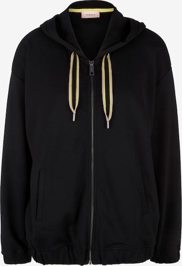TRIANGLE Sweat-Jacke in schwarz, Produktansicht