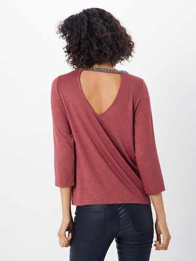 ONLY Shirt in de kleur Roestrood: Achteraanzicht