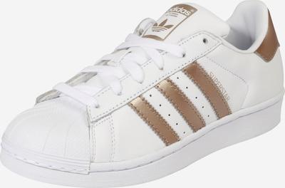 Sneaker low 'Superstar' ADIDAS ORIGINALS pe auriu / alb: Privire frontală