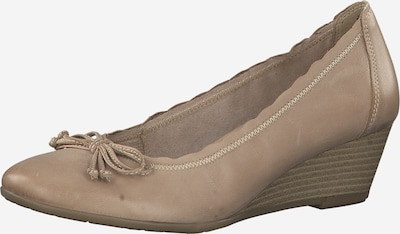 MARCO TOZZI Pumps in dunkelbeige: Frontalansicht