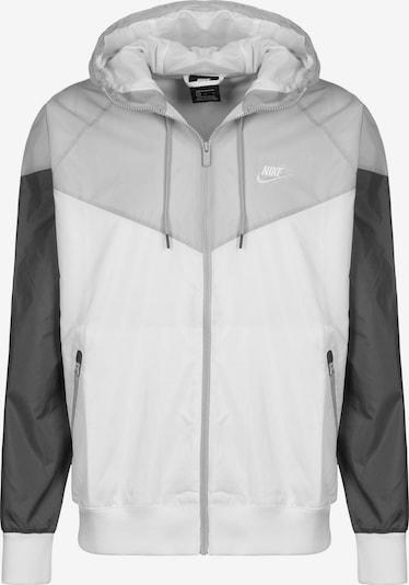 Nike Sportswear Jacke in grau / dunkelgrau / weiß, Produktansicht