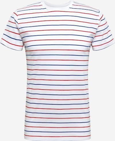 INDICODE JEANS Majica 'Oviedo' | modra / rdeča / bela barva, Prikaz izdelka