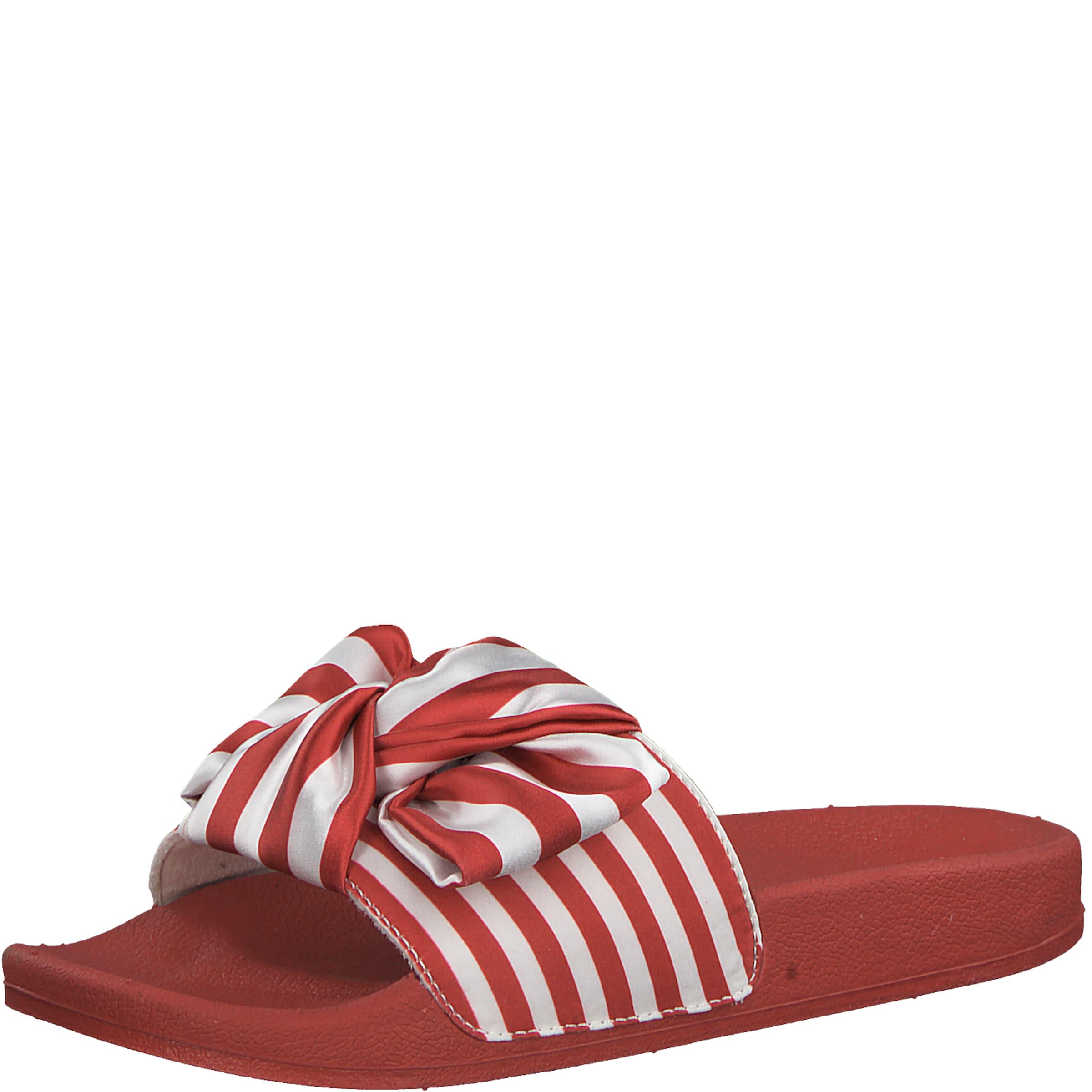 TAMARIS | Pantolette 'Stripe' mit Schleife Schuhe Gut getragene Schuhe