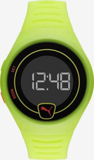 PUMA Uhr 'Faster, P5030' in gelb / schwarz, Produktansicht