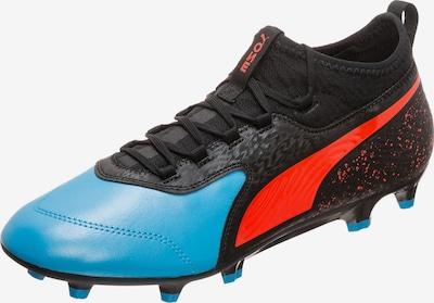 PUMA Voetbalschoen 'Onew 19.3' in de kleur Lichtblauw / Rood gemêleerd / Zwart, Productweergave