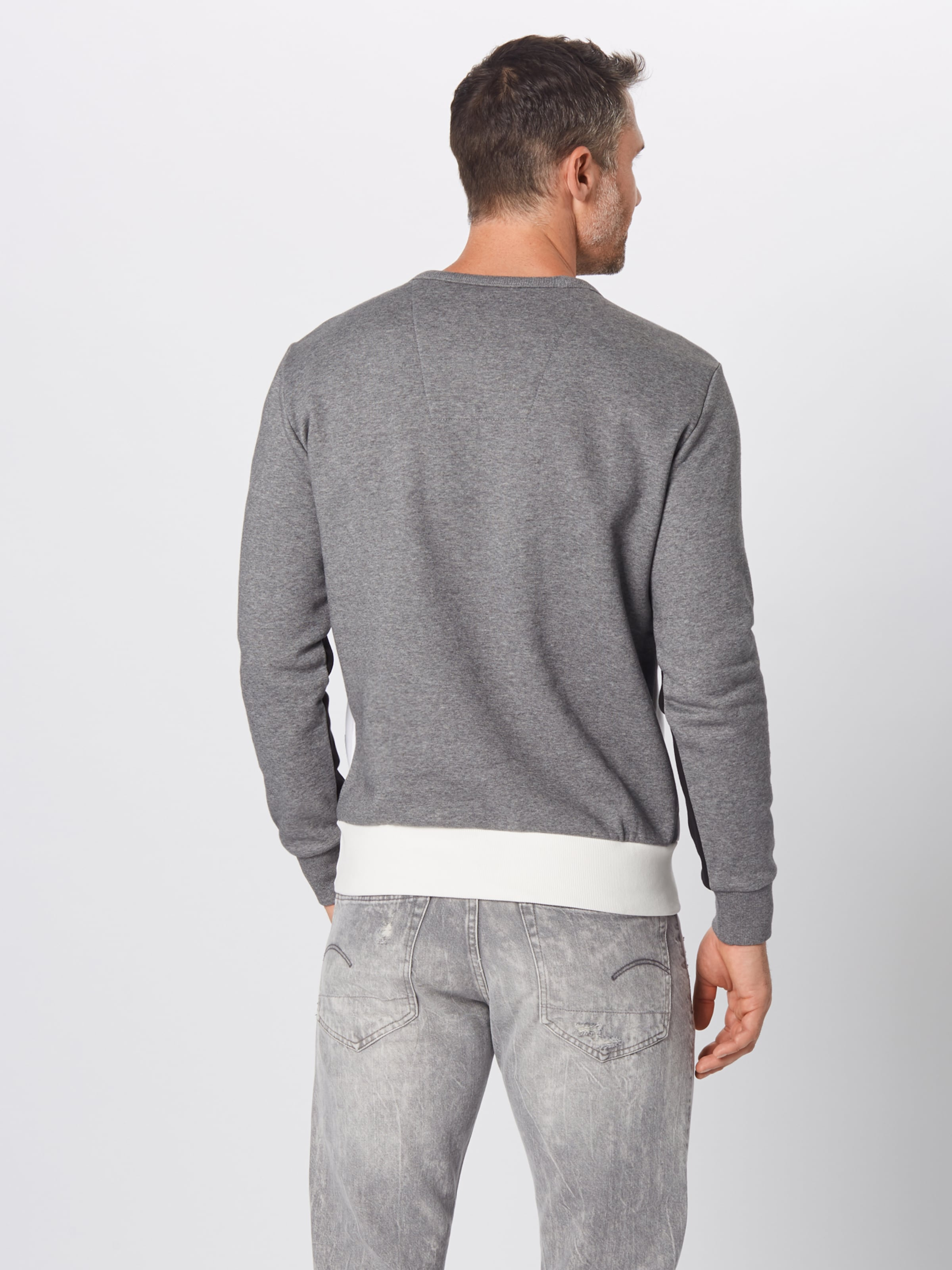 G Gris star shirt New 'swando ChinéNoir Raw Sweat En Blanc Block' qSzVpUM