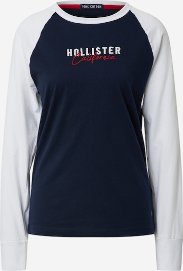 HOLLISTER Shirt in navy / weiß, Produktansicht