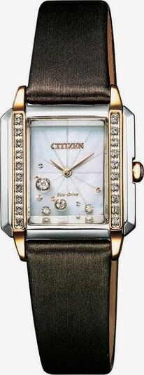 CITIZEN Uhr in dunkelbraun / gold / silber, Produktansicht