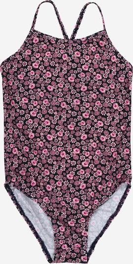 NAME IT Badeanzug 'Zummers' in rosa / schwarz, Produktansicht
