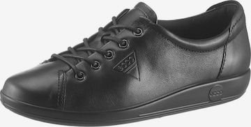 ECCO Lace-Up Shoes 'Soft 2.0' in Black