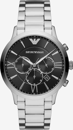 Emporio Armani Uhr in schwarz / silber, Produktansicht