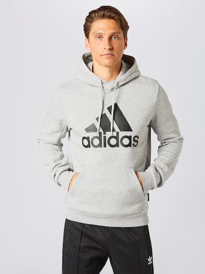 ADIDAS PERFORMANCE Sweatshirt in grau / schwarz: Frontalansicht