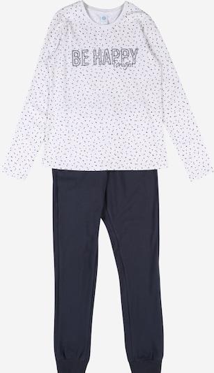 SANETTA Pižama | modra / pegasto siva barva, Prikaz izdelka