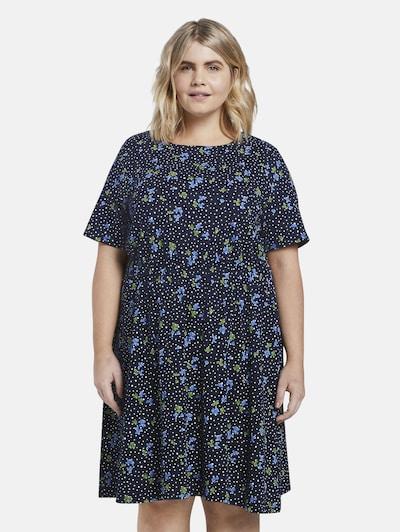 MY TRUE ME Kleid in dunkelblau / grün / weiß, Modelansicht