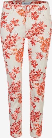 Angels Jeans 'Ornella' in beige / koralle / naturweiß: Frontalansicht