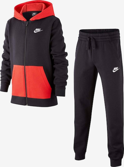 Nike Sportswear Trainingsanzug in rot / schwarz, Produktansicht