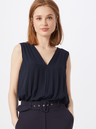 Banana Republic Bluse 'SL PLEATED BANDED TOP' in navy, Modelansicht