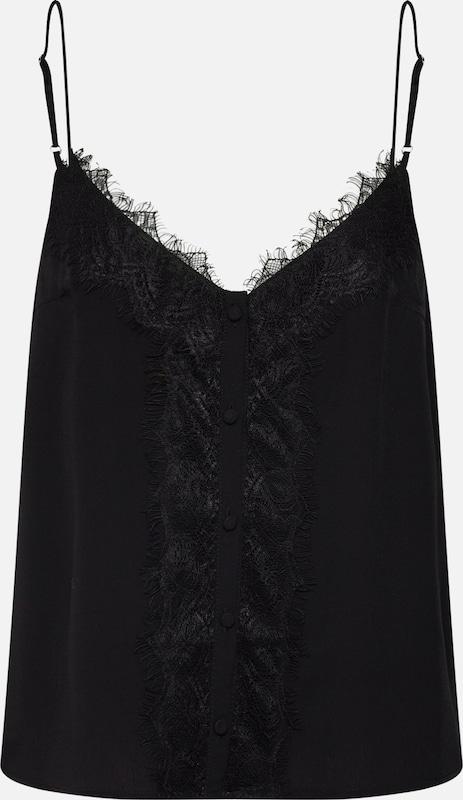 Top' 'button En Lace Noir Haut Review tdsCrQh