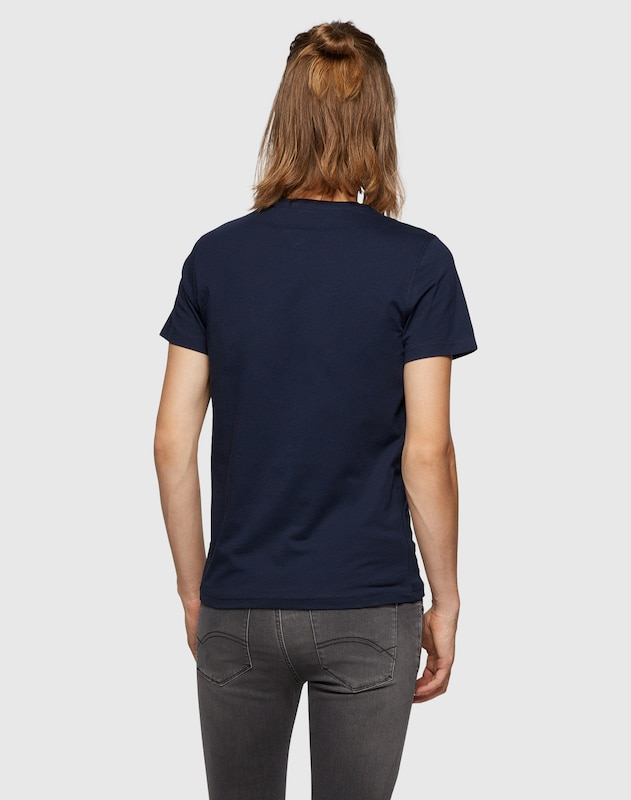 Tommy Jeans Basic-Shirt mit Label-Stickerei