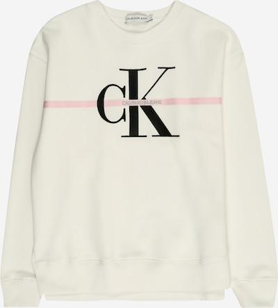 Calvin Klein Jeans Sweatshirt in rosa / schwarz / wollweiß, Produktansicht