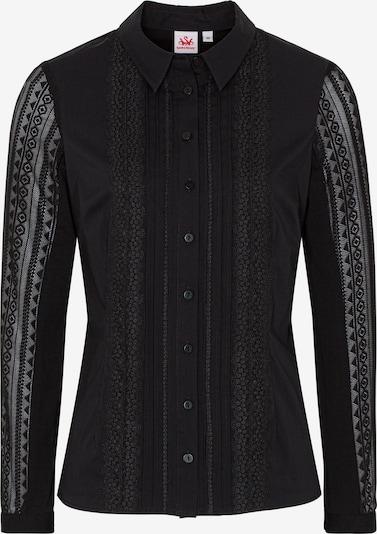 SPIETH & WENSKY Trachtenbluse 'Nacht' in schwarz, Produktansicht